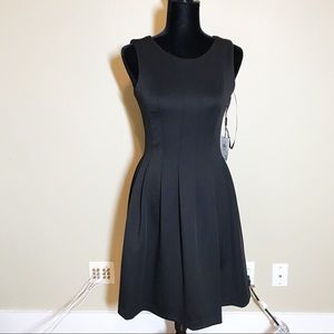 NEW Calvin Klein black sleeveless midi dress